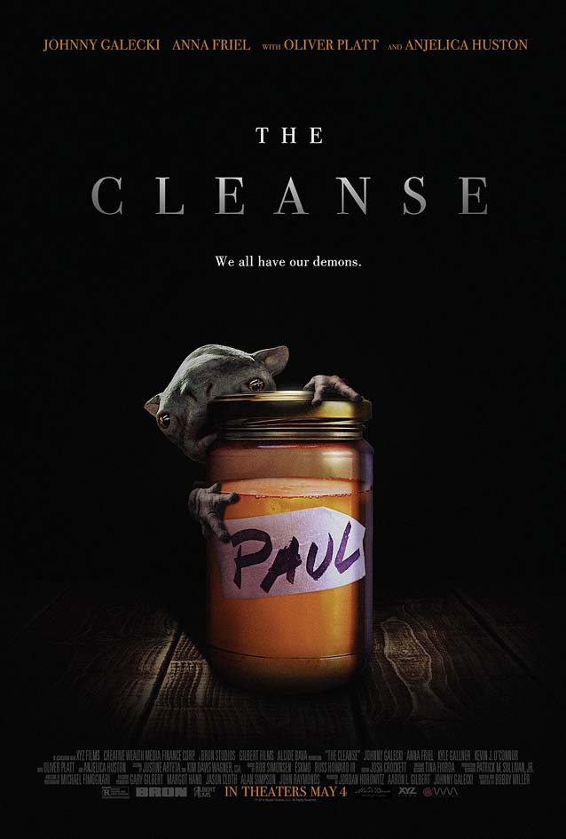 Kustom Creative's theatrical one-sheet for The Cleanse