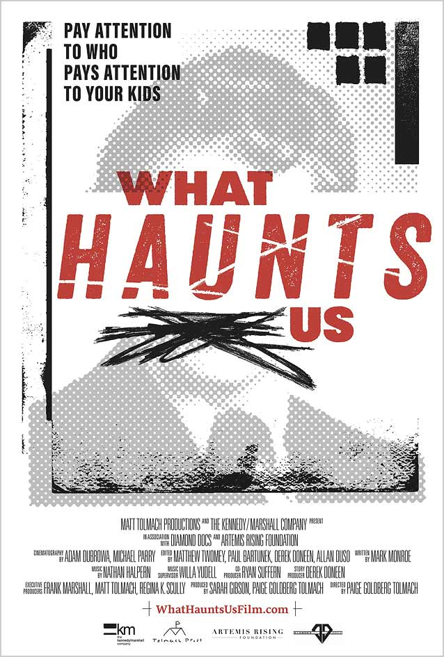 Theatrical one-sheet for What Haunts Us